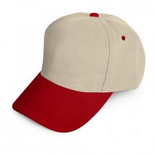 0101 Bej Şapka - Kırmızı Siperli