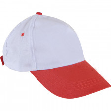 0101 Beyaz Şapka - Kırmızı Siperli