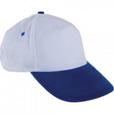 0101 Beyaz Şapka - Saks Mavi Siperli