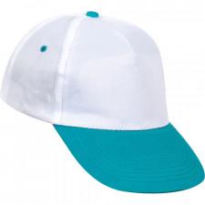 0101 Beyaz Şapka - Turkuaz Siperli