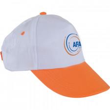 0101 Beyaz Şapka - Turuncu Siperli