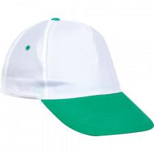 0101 Beyaz Şapka - Yeşil Siperli