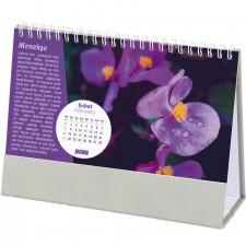 AMT-05-TDG Çiçekler Masa Takvimi