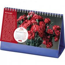 AMT-05-BL Çiçekler Masa Takvimi